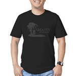 Beauty and the Beach Men's Fitted T-Shirt (dark)