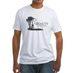 Beauty and the Beach Fitted T-Shirt