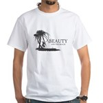 Beauty and the Beach White T-Shirt