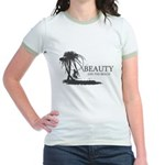 Beauty and the Beach Jr. Ringer T-Shirt