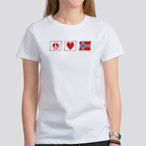 Peace, Love and Norway Women's T-Shirt
