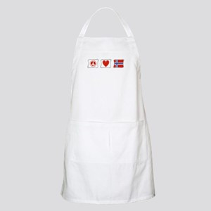 Peace, Love and Norway Apron
