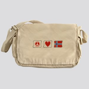 Peace, Love and Norway Messenger Bag