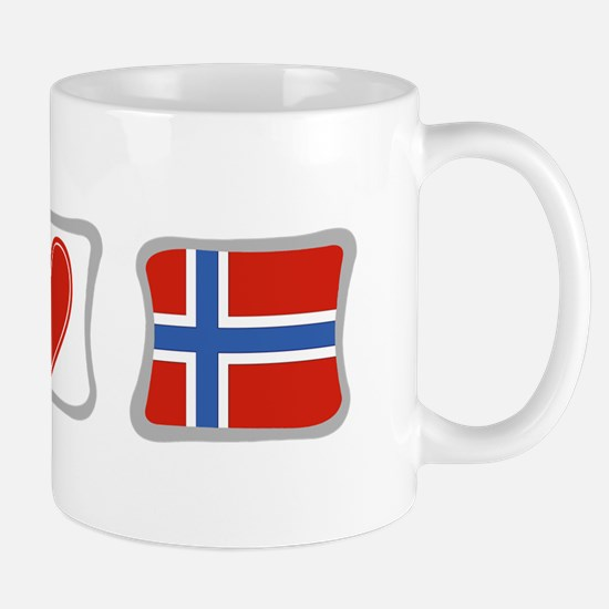 Peace, Love and Norway Mug