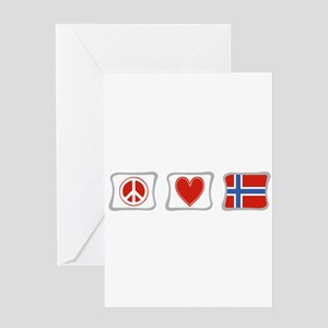 Peace, Love and Norway Greeting Card