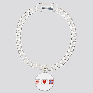 Peace, Love and Norway Charm Bracelet, One Charm