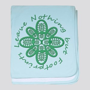 Leave Nothing Boot Green baby blanket