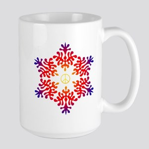 sunset snow peace Large Mug