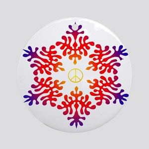 sunset snow peace Ornament (Round)