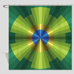 Peacock Illusion Shower Curtain