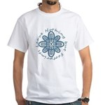 Leave Nothing Boot Print Blue White T-Shirt