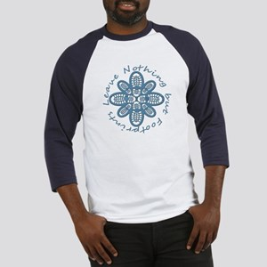 Leave Nothing Boot Print Blue Baseball Jersey
