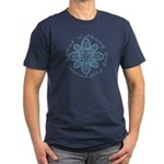 Leave Nothing Boot Print Blue Men's Fitted T-Shirt
