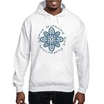 Leave Nothing Boot Print Blue Hooded Sweatshirt