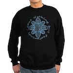 Leave Nothing Boot Print Blue Sweatshirt (dark)