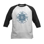 Leave Nothing Boot Print Blue Kids Baseball Jersey