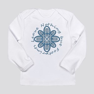 Leave Nothing Boot Print Blue Long Sleeve Infant T