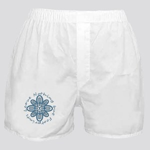 Leave Nothing Boot Print Blue Boxer Shorts