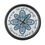 Leave Nothing Boot Print Blue Large Wall Clock