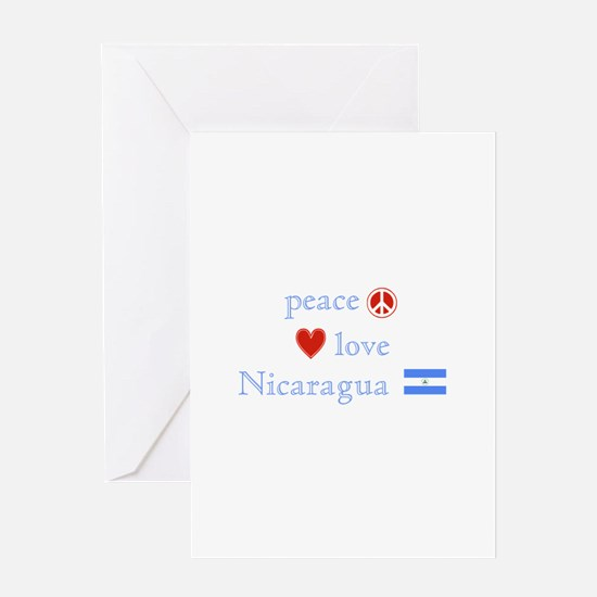 Peace, Love and Nicaragua Greeting Card