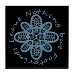 Leave Nothing Boot Blu Blk Tile Coaster
