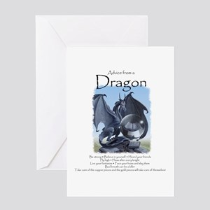Advice from a Dragon Greeting Card