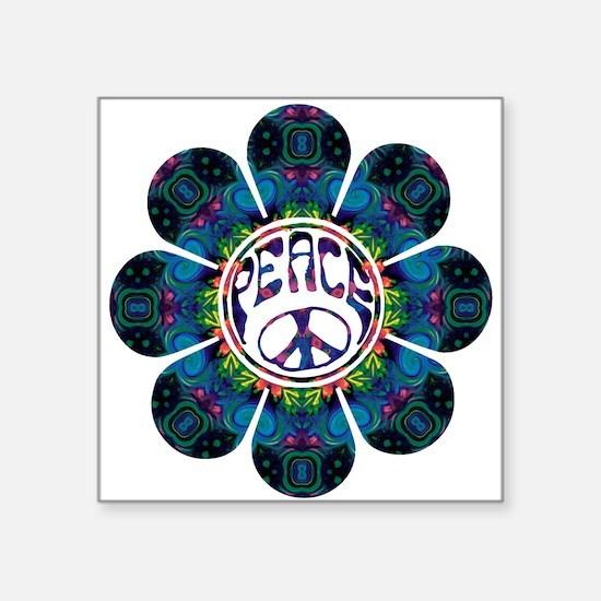 "peace flower festival Square Sticker 3"" x 3"""