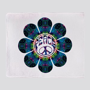 peace flower festival Throw Blanket
