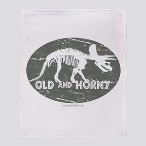 Old and Horny... Throw Blanket