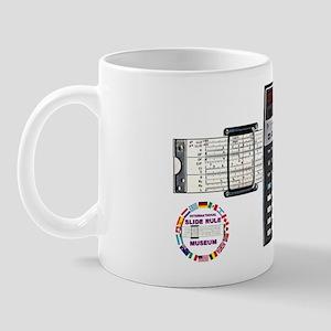 Mug with Slide Rule Calculator ISRM Logo