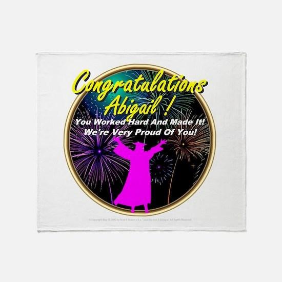 Grad Girls Abigail: 0001 Throw Blanket