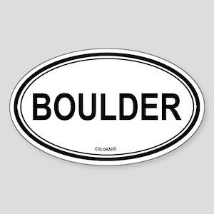 Boulder (Colorado) Oval Sticker