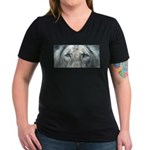 The Fallen Arises Women's V-Neck Dark T-Shirt