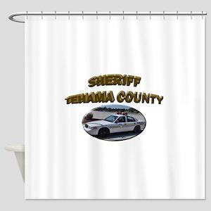 Tehama County Sheriff Car Shower Curtain