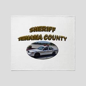 Tehama County Sheriff Car Throw Blanket