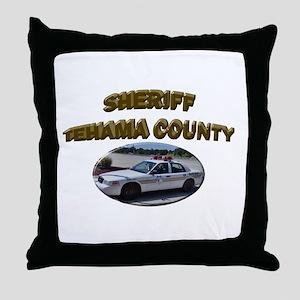 Tehama County Sheriff Car Throw Pillow