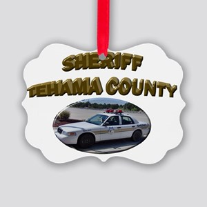 Tehama County Sheriff Car Picture Ornament