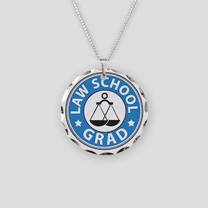 Law School Grad Necklace Circle Charm