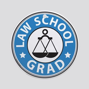 Law School Grad Ornament (Round)