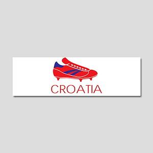 Croatia Pride Car Magnet 10 x 3