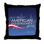 Restore American Sovereignty Throw Pillow