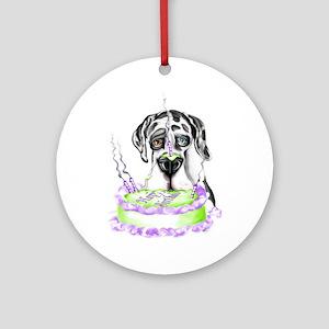 Dane Birthday Harlequin UC Ornament (Round)