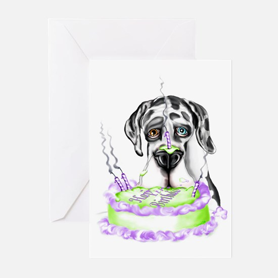 Dane Birthday Harlequin UC Greeting Cards (Package