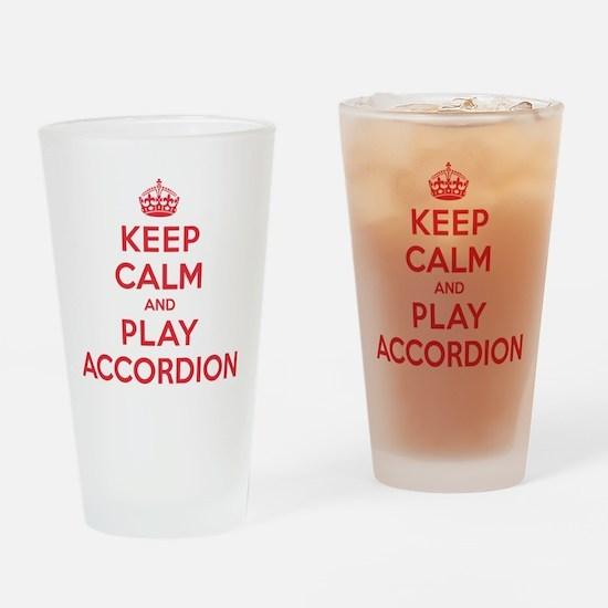 Keep Calm Play Accordion Drinking Glass