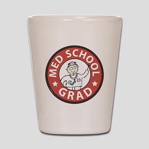 Med School Grad (Male) Shot Glass