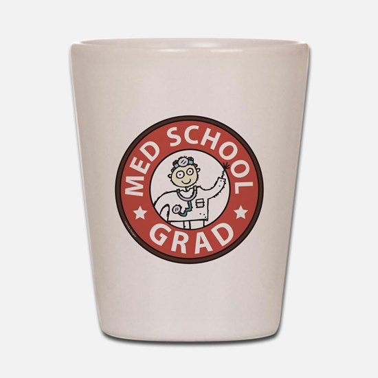 Med School Grad (Male) Shot Glass