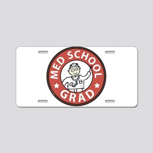 Med School Grad (Male) Aluminum License Plate