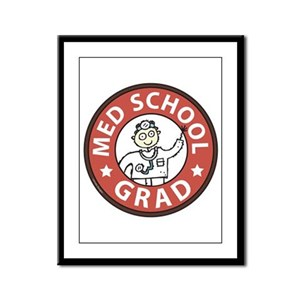 Med School Grad (Male) Framed Panel Print