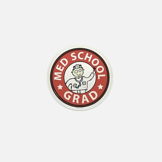 Med School Grad (Male) Mini Button