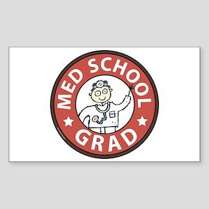 Med School Grad (Male) Sticker (Rectangle)